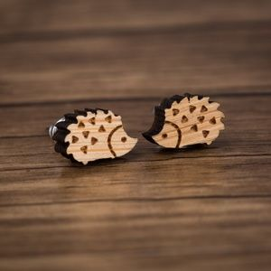 Urban Outfitters Vintage Hedgehog Wood Earrings